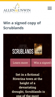 Allen & Unwin – Win a Signed Copy of Scrublands