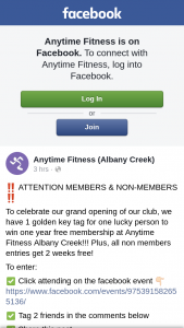 Anytime Fitness Albany Creek – Win One Year Free Membership at Anytime Fitness Albany Creek