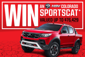 Bauer Media – Win a Hsv Colorado Sportscat In The Colour Absolute Red (prize valued at $76,429.3)