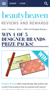 Beauty Heaven – Will Score a Designer Brands Prize Pack Filled With Newly Release Products