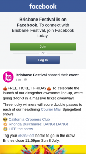 Brisbane Festival – Will Score Double Passes to Each of Our Headlining Courier Mail Spiegeltent Shows