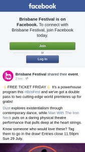 Brisbane Festival – Win Double Passes to See Dust and Man With The Iron Neck