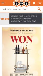 BWS – Win 1 of 10 Drinks Trolleys to Show Off to Your Mates (prize valued at $512)
