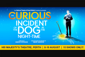 Community News – Win 1 of 15 Double Passe to The Curious Incident of The Dog In The Night&#8209time on 19th August
