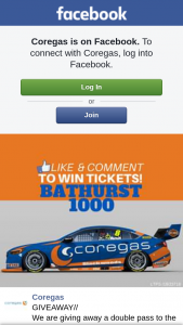 Coregas – a Double Pass to The Bathurst 1000