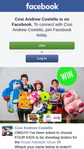 Cosi Andrew Costello Kids become a showbag tester at Royal Adelaide Show – Competition