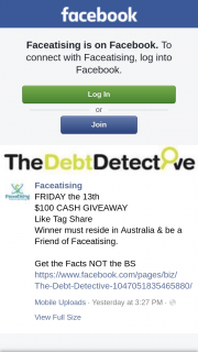 Faceatising – Must Reside In Australia & Be a Friend of Faceatising (prize valued at $100)