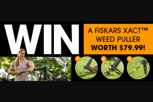 Gardening Australia – Will Receive a Fiskars Xact Weed Puller Worth $79.99. (prize valued at $399.95)