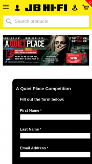 JB HiFi Pre-order a Quiet Place to – Win One of 3 Sony Wireless Noise Cancelling HeaDouble Passhones (prize valued at $900)