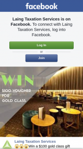 Laing taxation services – Win a $100 Gold Class Gift Voucher (prize valued at $100)