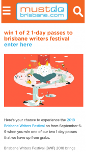 Must Do Brisbane – Win One of Our Two 1-day Passes That We Have Up From Grabs (prize valued at $75)