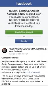 NESCAFÉ DOLCE GUSTO Australia & New Zealand – Win a Limited Edition William Nescafe Dolce Gusto Drop® Automatic Coffee Machine