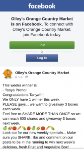 Olley's Orange Country Market – 3 Boxes Each Week