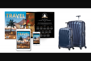 Signature Luxury Travel – Win a Samsonite Cosmolite Travel Set (prize valued at $1,428)