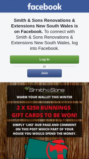 Smith & Sons Renovations – Win One of Two $250 Bunnings Warehouse Gift Cards