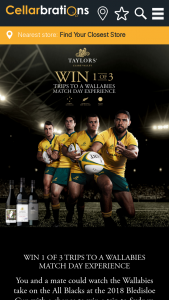 Taylors Wines – Win a Trip for Two (2) People to Watch The Australia Vs New Zealand Rugby Union Match on 18/08/2018 at Anz Stadium (prize valued at $23,170)