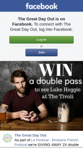 The Great Day Out – Win a Double Pass to See Luke Heggie at Tivoli Brisbane