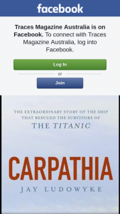 Traces – Win a Copy of Carpathia By Dr Jay Ludowyke