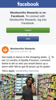 Woolworths Rewards – Win 12 Months of Spotify Premium
