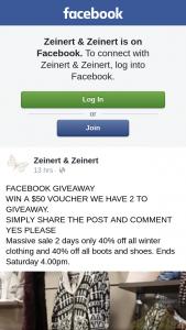 Zeinert & Zeinert – Win a $50 Voucher We Have 2 to Giveaway