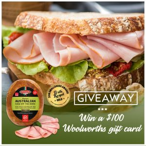 D'Orsogna – Win 1 of 3 Woolworths Gift Cards valued at $100 each
