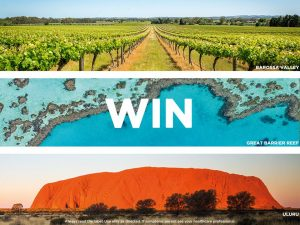 DermaVeen Natural Wonders of Australia – Win 1 of 3 trips for 2 to either Barossa, Uluru or Great Barrier Reef valued at $5,600 AUD