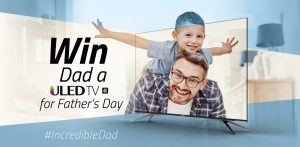 Hisense Australia – Father's Day – Win a Hisense 55″ Series 7 ULED Television valued at $1,999
