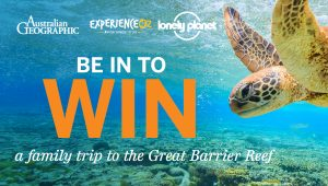 Lonely Planet – Win a family trip for 4 to Great Barrier Reef valued at $5,036