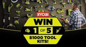 Network Ten – Father's Day – Win 1 of 5 Ryobi PowerTools valued at $1,000 each