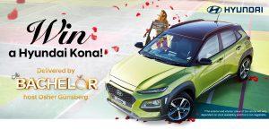 Network Ten – The Bachelor Hyundai Kona – Win a prize package of a 2018 Hyundai Kona Active valued at $32,000