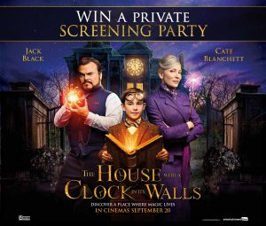 Network Ten – The House with a Clock in Its Walls – Win a prize package of a private Gold Class screening party for 20 people valued at $5,100
