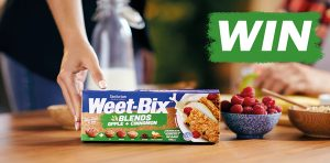 Sanitarium Health & Wellbeing – Win 1 of 100 packs of Weet-Bix Blends Apple & Cinnamon valued at $5.50 each