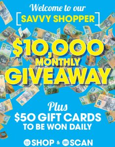The Reject Shop – Win a monthly cash prize of $10,000 OR daily prizes of a $50 gift cards