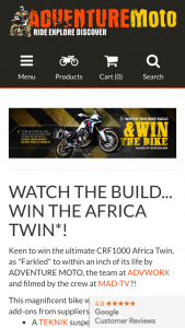 Adventure moto – Win The Honda Crf1000l Africa Twin (prize valued at $20,000)
