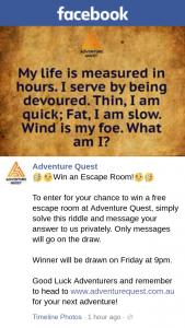 Adventure Quest – Win a Free Escape Room at Adventure Quest