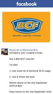 Assest Air & Electrical WA – Win a $50 Bcf Voucher
