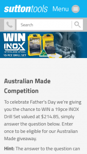 Australian Made – Win Their Inox Drill Set Valued at Over $200 (prize valued at $214.85)