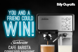 Billy Guyatts – Win this Awesome Sunbeam Cafe Barista Espresso Machine Worth $299
