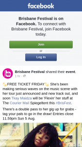 Brisbane Festival – Win a Double Pass to See Tkay Maidza
