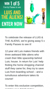 Channel 7 – Sunrise Family – 5 X Family Passes to See It