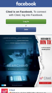 Cited – Win 1 of 5 Double Passes to See Searching