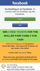 Go Duckling – Win 3 Ride Tickets for The Waller Park Family Fun Fair