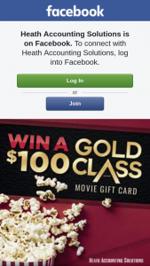 Heath Accounting Solutions – Win a $100 Event Cinemas Gold Class Gift Card (prize valued at $100)