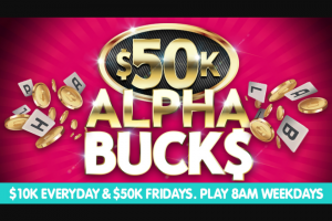 Hit107 – Win Cash on Monday (prize valued at $50,000)