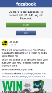 JB HiFi – Win 1 of 3 Amazing Robobloq Prize Packs