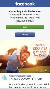 Kinderling Kids Radio – Win a $250 Visa Gift Card for a Wonderful Dad