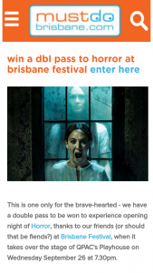 Must Do Brisbane – to Experience Opening Night of Horror