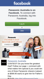 Panasonic Australia – Win One of Three Panasonic Shavers (valued at $599.95 Each) to Give Him for Father's Day (prize valued at $599.95)