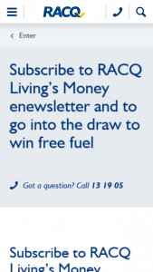 RACQ – Win $500 Worth of Puma Fuel Vouchers  (prize valued at $500)