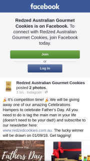 Redzed Australian Gourmet Cookies – Win a Hamper for Father's Day